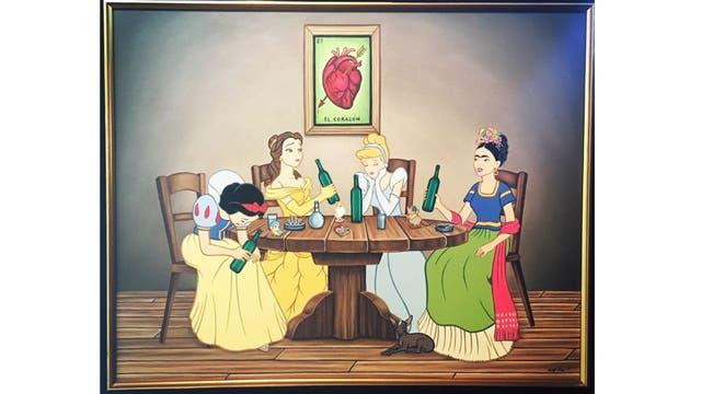 En Paloma negra (2004), del mexicano José Rodolfo Loaiza Ontiveros, Frida Khalo se sienta a la mesa con las Princesas