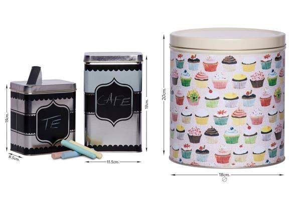 Las latas están de moda y sirven para aportar un toque decorativo a tu cocina. Combiná diferentes motivos o elegí las que tienen pintura de pizarra para darle distintos usos https://www.facebook.com/bendita.lata. Foto: Gentileza Bendita Lata