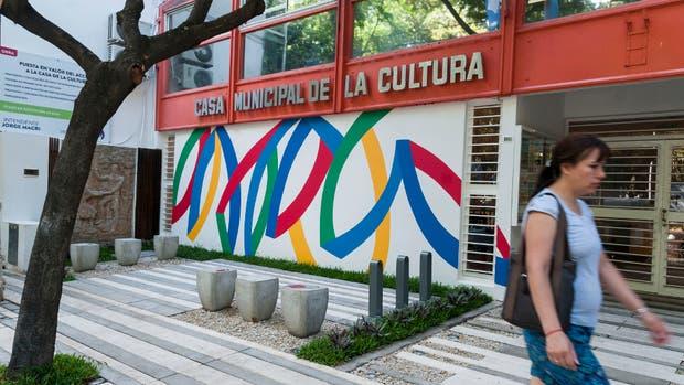 Raiteri en la Casa Municipal de la Cultura de Olivos