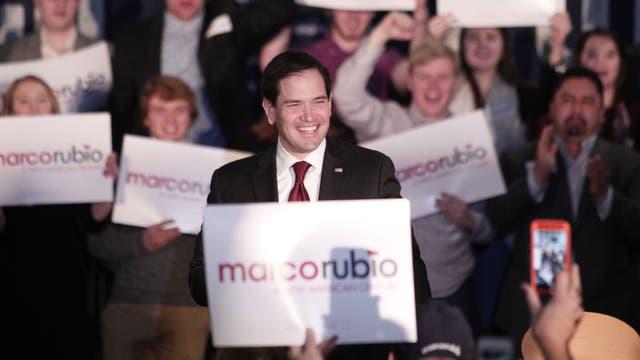 Marco Rubio quedó segundo, pero por poco