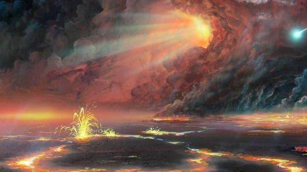 Es posible que la superficie terrestre se haya visto como en esta ilustración una vez