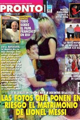 La foto de la verdad, Messi fue sorprendido por los flashes muy cerca de una mujer rubia