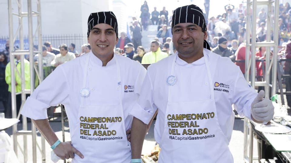 Los rosarinos Marcelo Herrara y Pablo Ramallo se consagraron ganadores de la competencia . Foto: DyN