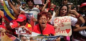 La alegría de los chavistas que se congregaron ayer en la Plaza Bolívar, la principal de Caracas