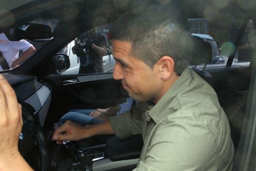 Riquelme se presentó en Casa Amarilla y sostuvo que mantiene su palabra y no vuelve. Foto: Télam