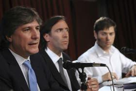 Boudou, Lorenzino y Kicillof explican la oferta