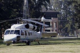 Durante la mañana de ayer, Cristina Kirchner viajó a Pilar en el helicóptero oficial para acompañar a su hijo Máximo, internado por una artritis séptica