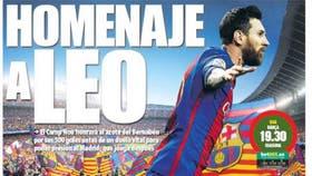 Los medios catalanes reflejan la fiesta que planea el Camp Nou para homenajear a Lionel Messi
