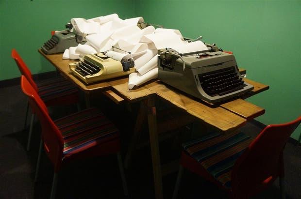 La instalación Mecanismo de Escritura Colectiva