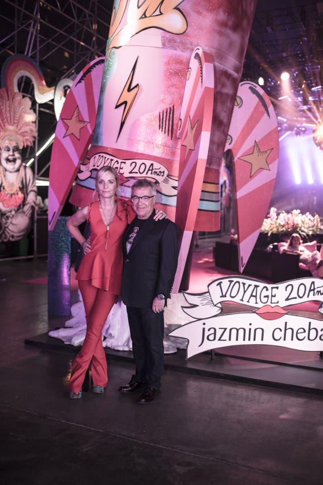 Jazmín Chebar y Claudio Drescher