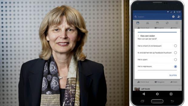 """Van Dijck elige una app lanzada por Facebook en Holanda, en la que se insta a los usuarios a calificar la información que les llega, incluso determinando qué noticias son falsas. """"De esta manera, Facebook traslada a sus usuarios la tarea de determinar qué es fake news"""", comenta. Foto: Vict"""