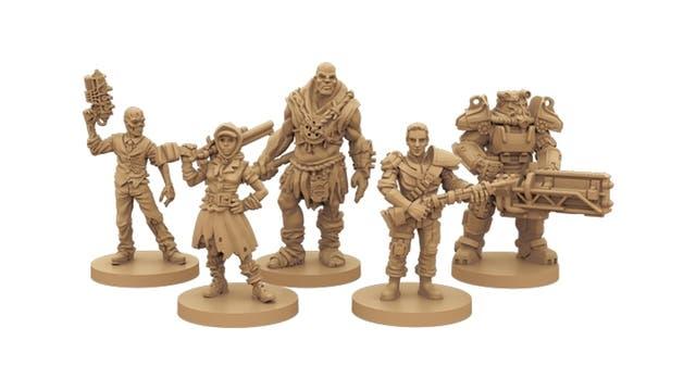 Las figuras del tablero del Fallout