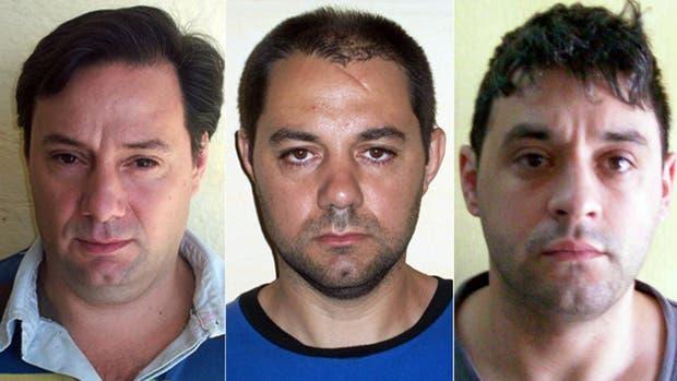 De izq. a der.: Martín y Cristian Lanatta y Víctor Schillaci se habían fugado hace 13 días