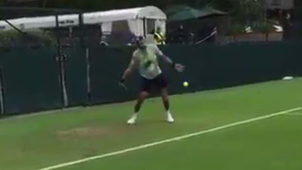 Del Potro practicó en Wimbledon