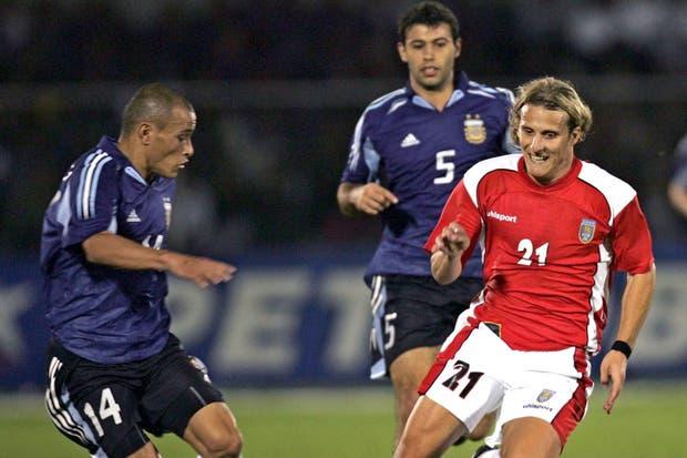 La última vez que la Argentina y Uruguay jugaron por Copa América fue en 2004 y la selección ganó por 4-2