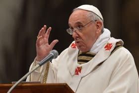 El Papa brindó hoy una emocionante homilía