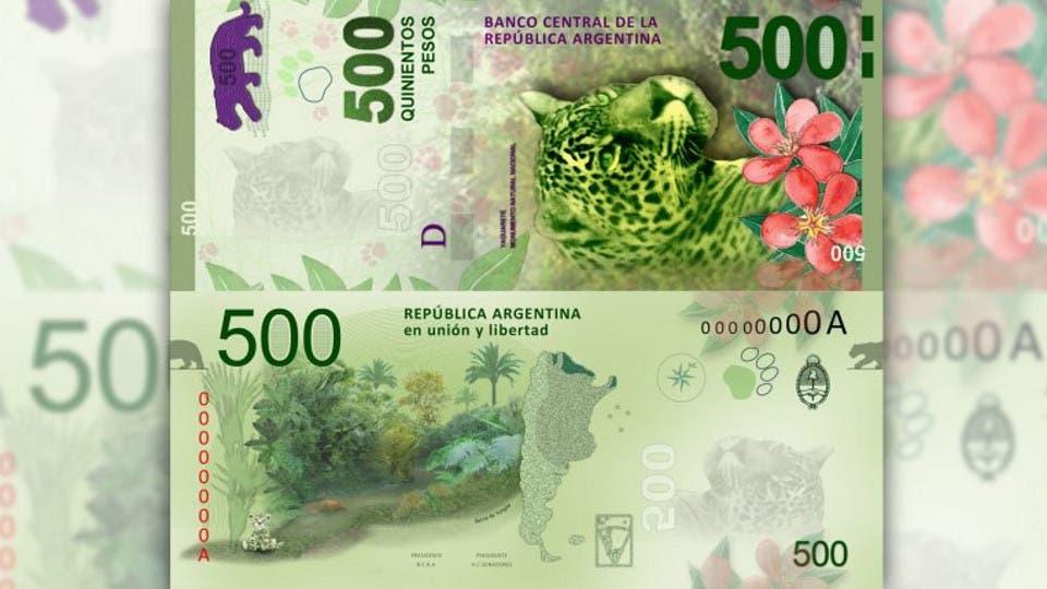 El nuevo billete de $500