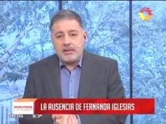 Doman y la ausencia de Fernanda Iglesias