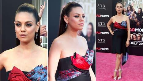 Mila Kunis, muy sexy sobre la red carpet