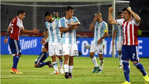 La reciente frustración ante Paraguay en las eliminatorias