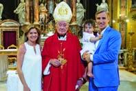 María Laura Leguizamón y Marcelo Figueiras eligieron Roma para el bautismo de Alfonso, su hijo