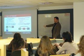Gustavo Vorobechik explicó el funcionamiento de su emprendimiento, en la Universidad de Palermo