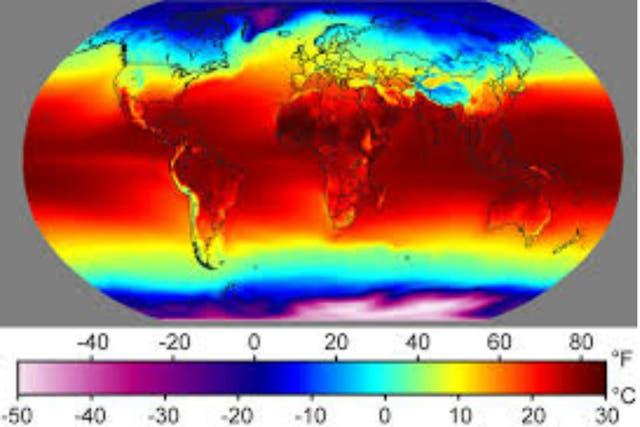 Imágenes de la temperatura global por satélites de la NASA