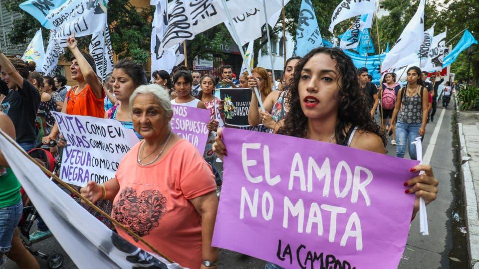 Marcha en Tucumán. Foto: LA NACION / Fernando Font