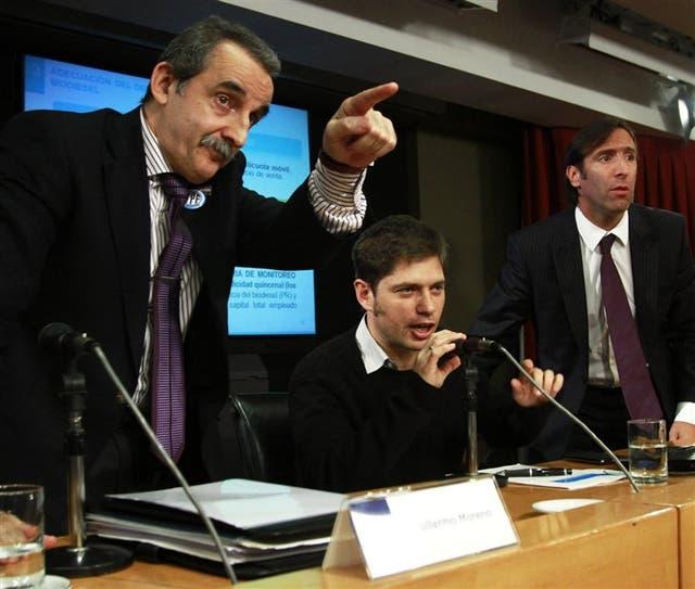 Guillermo Moreno, Axel Kicillof y Hernán Lorenzino