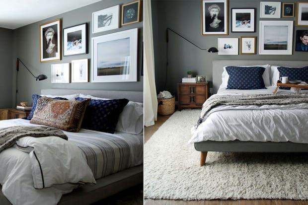 Para enmarcar el sector de la cama, una buena alfombra que, además, brinda calidez.  /Hrislovesjulia.com