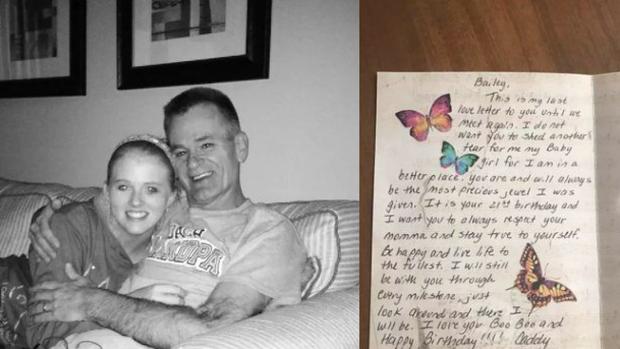Recibe las últimas flores de cumpleaños enviadas por su padre muerto