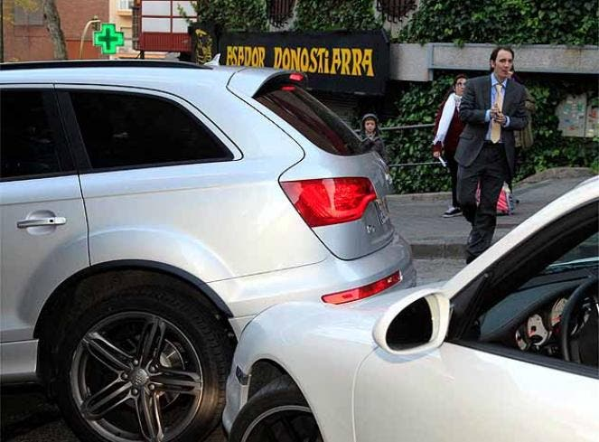 El choque al Porsche. Foto: Diario As