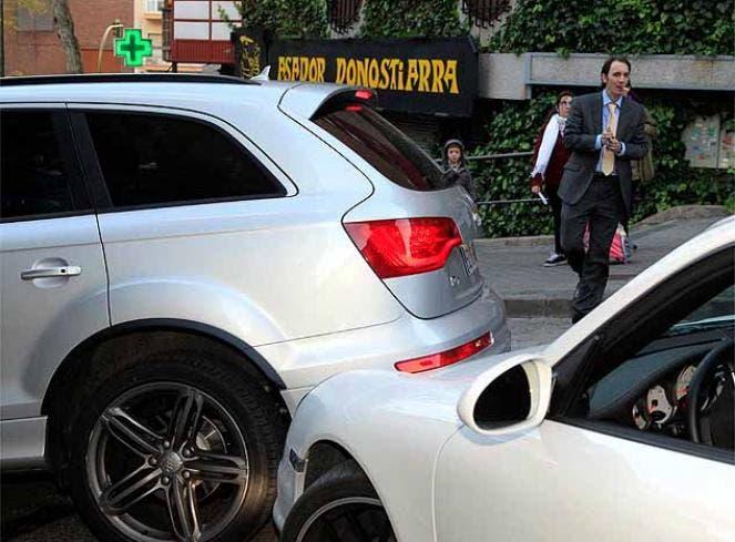 El choque al Porsche. Foto: Diario As