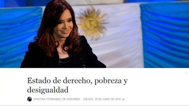 El texto de anoche de Cristina Kirchner