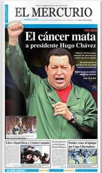 Así informaron los diarios la muerte del Presidente de Venezuela, Hugo Chávez.