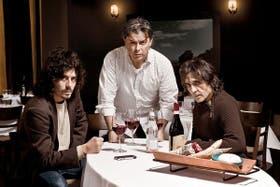 El clan de propietarios: Fabián Quintiero, Donato de Santis y Fernando Brucco