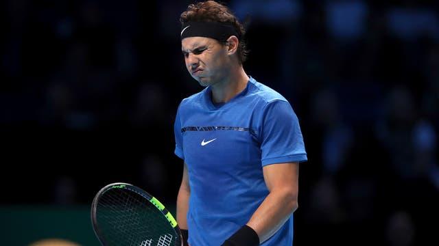 Rafael Nadal cayó ante Goffin y se retiró del torneo de Maestros de Londres
