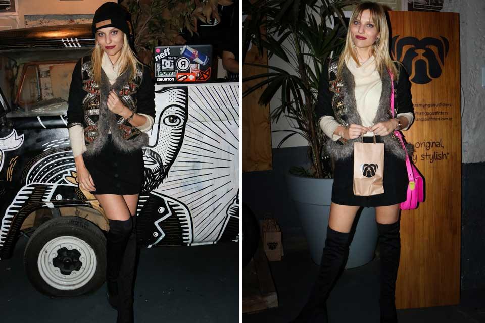 ¡Rocker style para Valentina Salezzi! La modelo deslumbró con su outfit en la noche porteña y se robó varias miradas. Foto: gentileza Prensa
