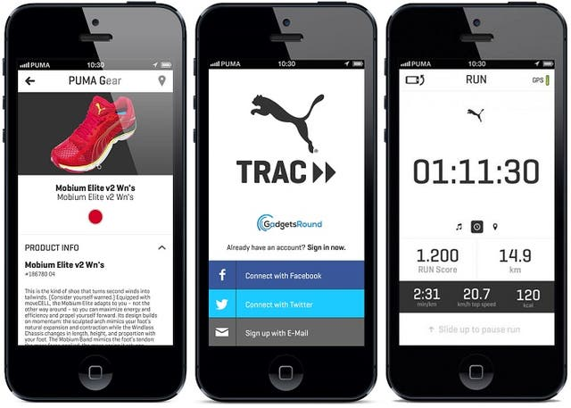 PUMA Trac, la app de PUMA