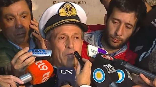 Enrique Balbi, vocero de la Armada, confirmó que el ruido registrado no era del submarino