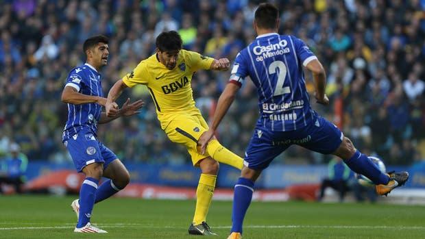 Pérez marca el 1 a 1 ante Godoy Cruz