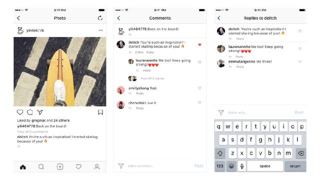 Instagram también implementó cambios en la aplicación en línea con el rediseño de Facebook