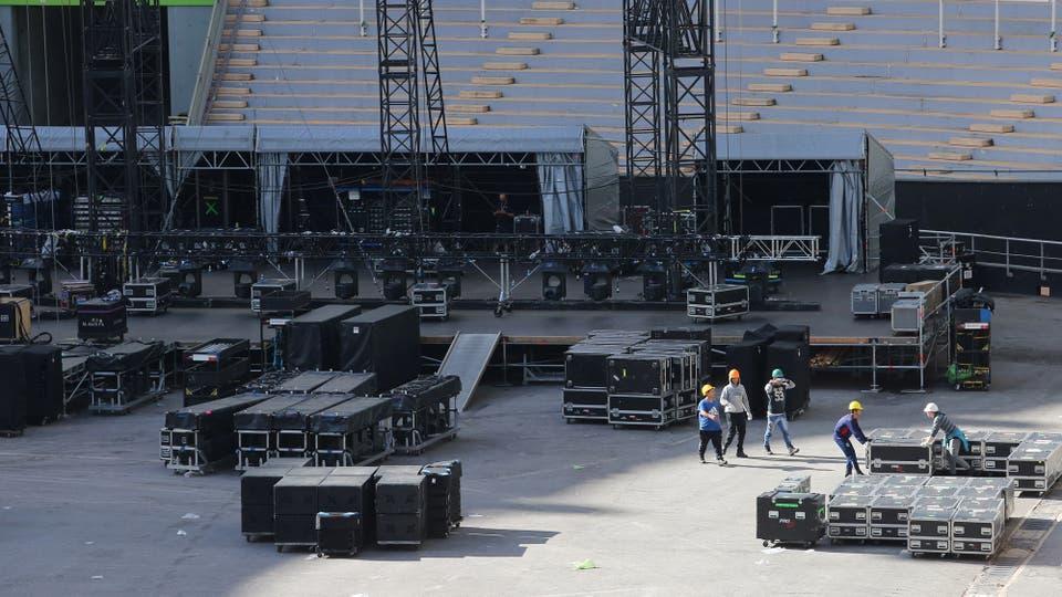 Habrá una pantalla de alta resolución que será la más larga que se haya visto en un gira. Foto: LA NACION / Santiago Hafford