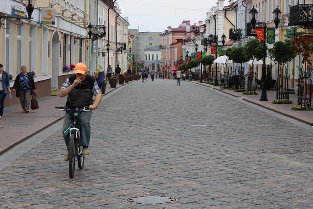 La calle Sovietskaya es una de las principales en Grodno