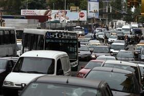 El tránsito, colapsado una vez más