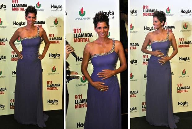 La foto de Halle Berry que todos quería, la actriz mostró su embarazo anoche en la premiere de su film en la Argentina