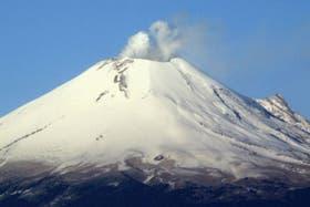 El volcán Popocatépetl, cercano a la capital mexicana