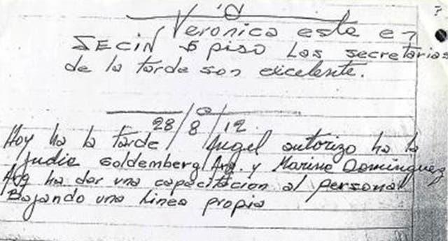 El cuaderno de Hugo Merlo contiene comentarios racistas y despectivos