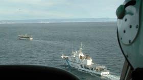 Persecución de un barco en aguas del Río de la Plata