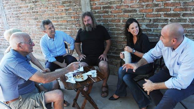 Macri, Stanley y Molina en Quilmes